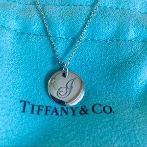 Tiffany & Co. Sterling Silver Initial J Necklace